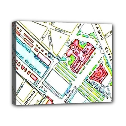 Paris Map Canvas 10  x 8