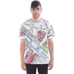 Paris Map Men s Sport Mesh Tee