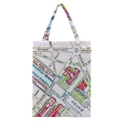 Paris Map Classic Tote Bag
