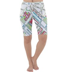 Paris Map Cropped Leggings