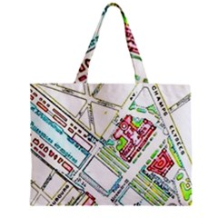 Paris Map Zipper Mini Tote Bag