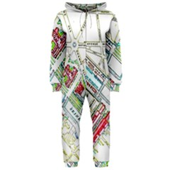 Paris Map Hooded Jumpsuit (ladies)
