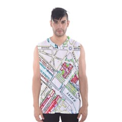 Paris Map Men s Basketball Tank Top