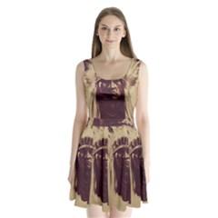 Indian Split Back Mini Dress