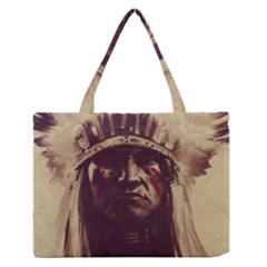 Indian Medium Zipper Tote Bag