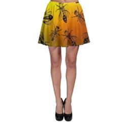 Insect Pattern Skater Skirt