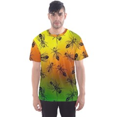 Insect Pattern Men s Sport Mesh Tee