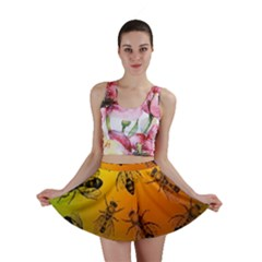 Insect Pattern Mini Skirt