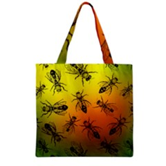 Insect Pattern Grocery Tote Bag