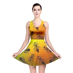 Insect Pattern Reversible Skater Dress