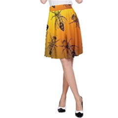 Insect Pattern A-Line Skirt