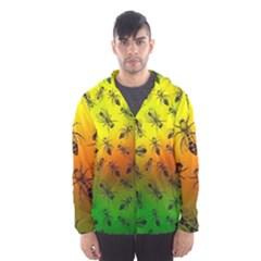Insect Pattern Hooded Wind Breaker (men)