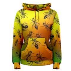 Insect Pattern Women s Pullover Hoodie