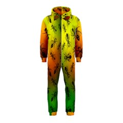 Insect Pattern Hooded Jumpsuit (kids)