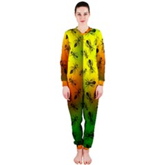 Insect Pattern OnePiece Jumpsuit (Ladies)
