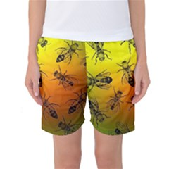 Insect Pattern Women s Basketball Shorts