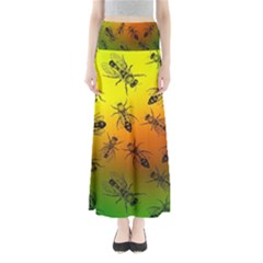 Insect Pattern Maxi Skirts