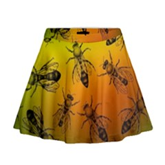 Insect Pattern Mini Flare Skirt