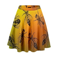 Insect Pattern High Waist Skirt