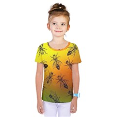 Insect Pattern Kids  One Piece Tee