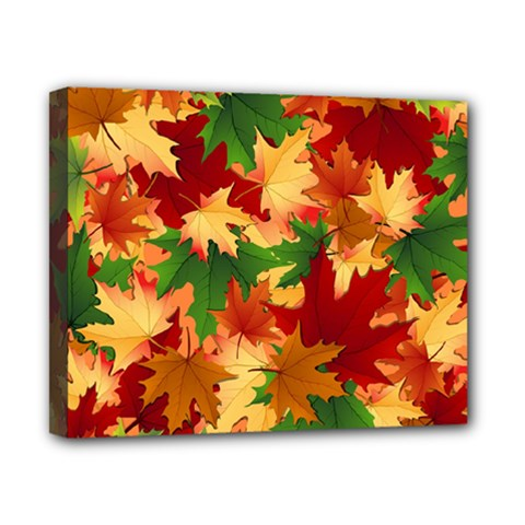 Autumn Leaves Canvas 10  X 8