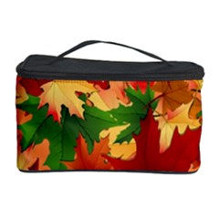 Autumn Leaves Cosmetic Storage Case