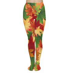 Autumn Leaves Women s Tights