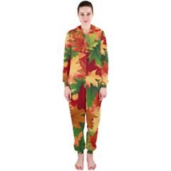Autumn Leaves Hooded Jumpsuit (Ladies)