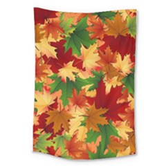 Autumn Leaves Large Tapestry