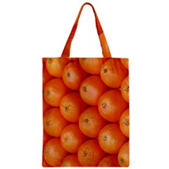 Orange Fruit Zipper Classic Tote Bag