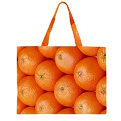 Orange Fruit Zipper Large Tote Bag
