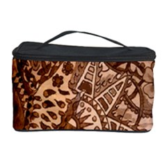 Elephant Aztec Wood Tekture Cosmetic Storage Case