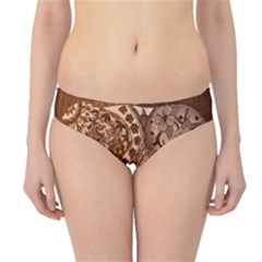 Elephant Aztec Wood Tekture Hipster Bikini Bottoms