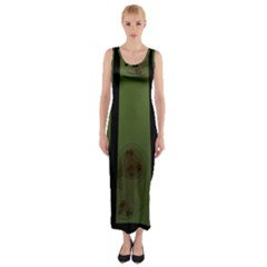 Fractal Prison Fitted Maxi Dress