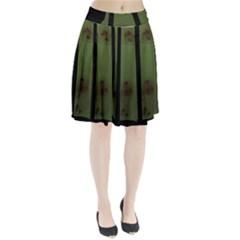 Fractal Prison Pleated Skirt