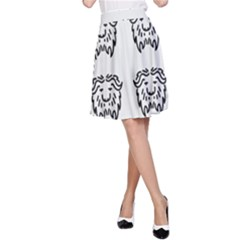 Animal Bison Grey Wild A-Line Skirt