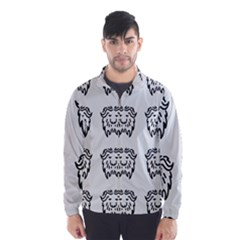 Animal Bison Grey Wild Wind Breaker (Men)