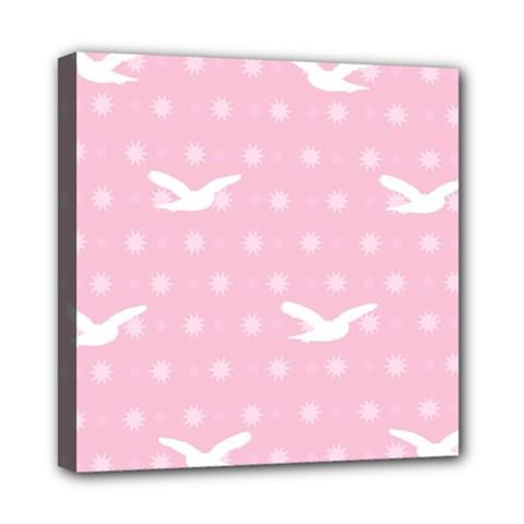 Wallpaper Same Palette Pink Star Bird Animals Mini Canvas 8  x 8