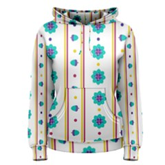 Beans Flower Floral Blue Women s Pullover Hoodie