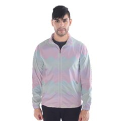 Argyle Triangle Plaid Blue Pink Red Blue Orange Wind Breaker (men)