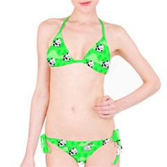 Animals Cow Home Sweet Tree Green Bikini Set