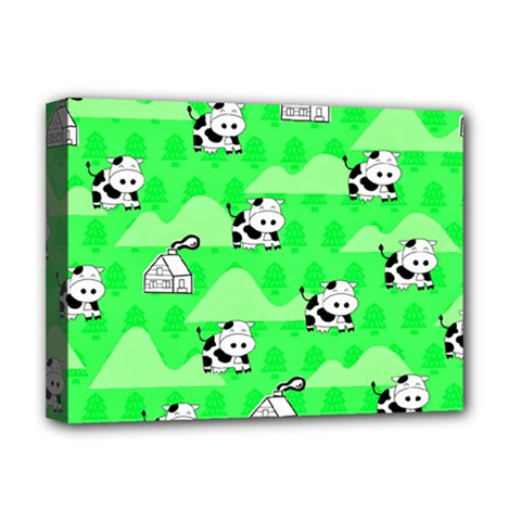 Animals Cow Home Sweet Tree Green Deluxe Canvas 16  x 12
