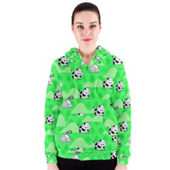 Animals Cow Home Sweet Tree Green Women s Zipper Hoodie
