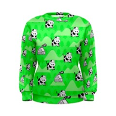 Animals Cow Home Sweet Tree Green Women s Sweatshirt