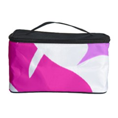 Bird Feathers Star Pink Cosmetic Storage Case