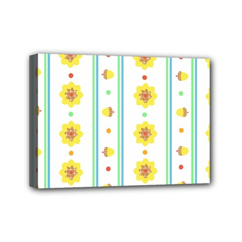 Beans Flower Floral Yellow Mini Canvas 7  x 5