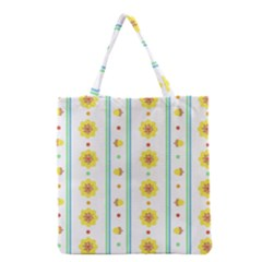 Beans Flower Floral Yellow Grocery Tote Bag