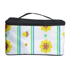 Beans Flower Floral Yellow Cosmetic Storage Case