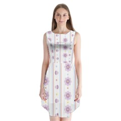Beans Flower Floral Purple Sleeveless Chiffon Dress