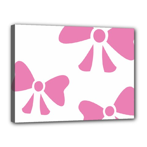 Bow Ties Pink Canvas 16  x 12